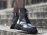 Жіночі черевики Balenciaga Tractor Black 615679WA8E91000 (матові), фото 3