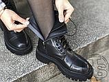 Жіночі черевики Balenciaga Tractor Black 615679WA8E91000 (матові), фото 4