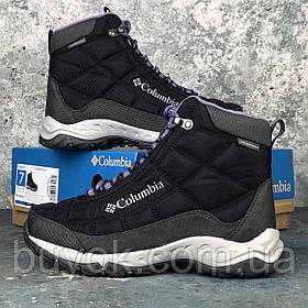 Оригинальные женские ботинки Columbia Firecamp Boot Black Plum Purple BL1766-010