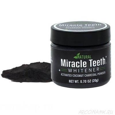 Отбеливатель зубов черная зубная паста Miracle Teeth Whitener 193811