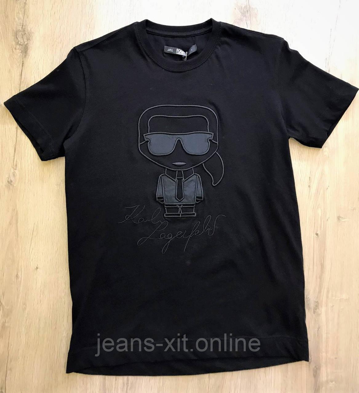 Футболка Чол. 2XL(р) чорний 9080 Karl Lagerfeld Туреччина Літо-D