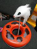 Интерактивная (развивающая) игрушка для котов и кошек Трек с мячем (и мышью), фото 6