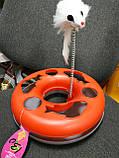 Интерактивная (развивающая) игрушка для котов и кошек Трек с мячем (и мышью), фото 7