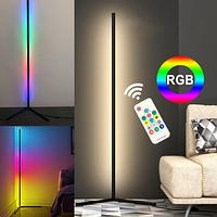 Угловой Led торшер, лед лампа, лед ночник, RGB подсветка, 2м сенсорный пульт управления + ПОДАРОК