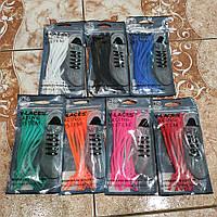 Шнурки силіконові з замком, еластичні для будь-яких видів взуття