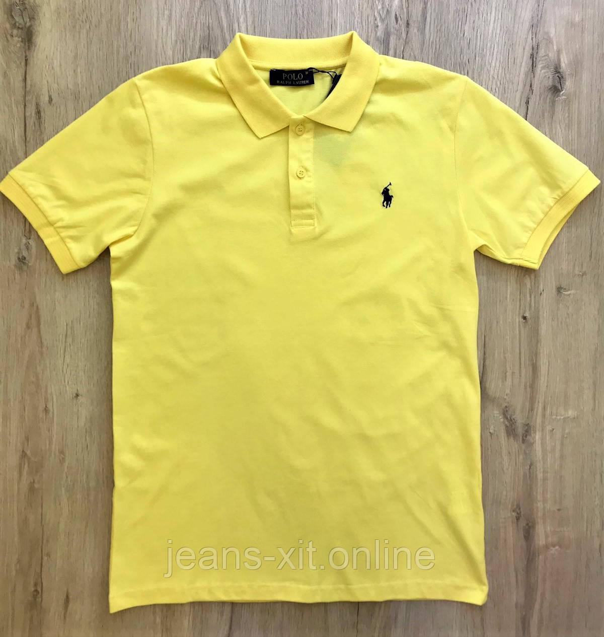 Футболка Чол. M(р) жовтий 1444-20 Polo Туреччина Літо-C