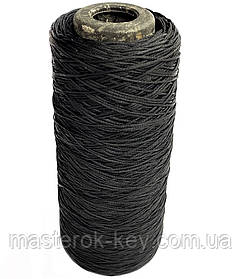 Нить обувная вощенная плоская 0,8мм цвет Черный 500м