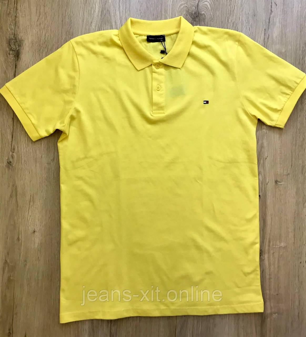 Футболка чоловіча 2XL(р) жовта 1445-20 Tommy Hilfiger Туреччина Літо-C