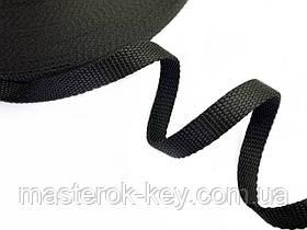 Ременная лента для сумок и ремней ширина 15мм цвет Черный