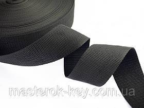 Ременная лента для сумок и ремней ширина 50мм цвет Черный