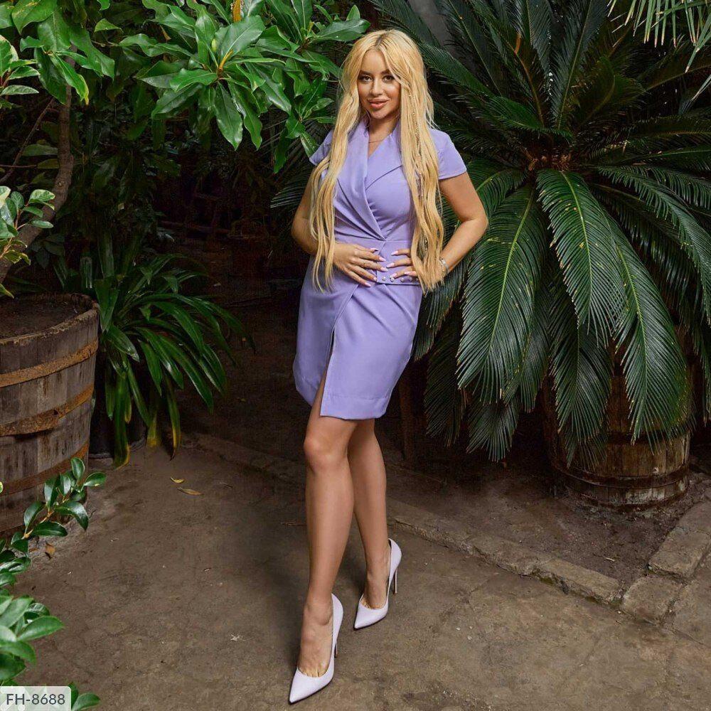 Деловое платье-жакет женское короткое с жемчугом короткий рукав р-ры 42-48  арт.  980