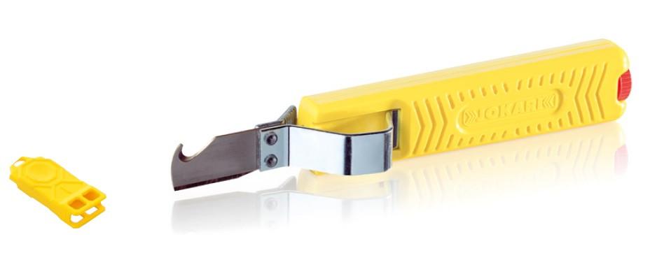 Нож для снятия изоляции с круглого кабеля JOKARI Standard №28H (Германия)