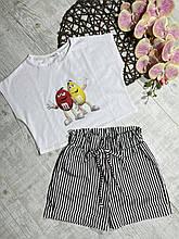 Стильный комплект топ и шорты для девочки M&M р. 128-152