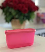 Емкость для хранения пищи Контейнер прямоугольный «Кубикс» розовый(250мл),1 штука Tupperware