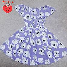 Лёгкое летнее платье для девочки в цветок р. 128-146