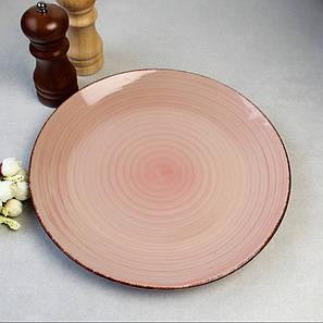 Кольорова тарілка закусочна, колір Пудра HLS (S1827), фото 2
