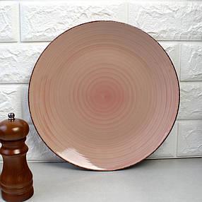 Цветная тарелка закусочная, цвет Пудра HLS (S1827), фото 2