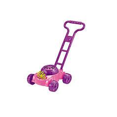 Детская каталка с мыльными пузырями газонокосилка Bubble Mower OC0486641 (розовая)