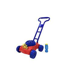 Детская каталка с мыльными пузырями газонокосилка Bubble Mower OC0486641 (синяя)
