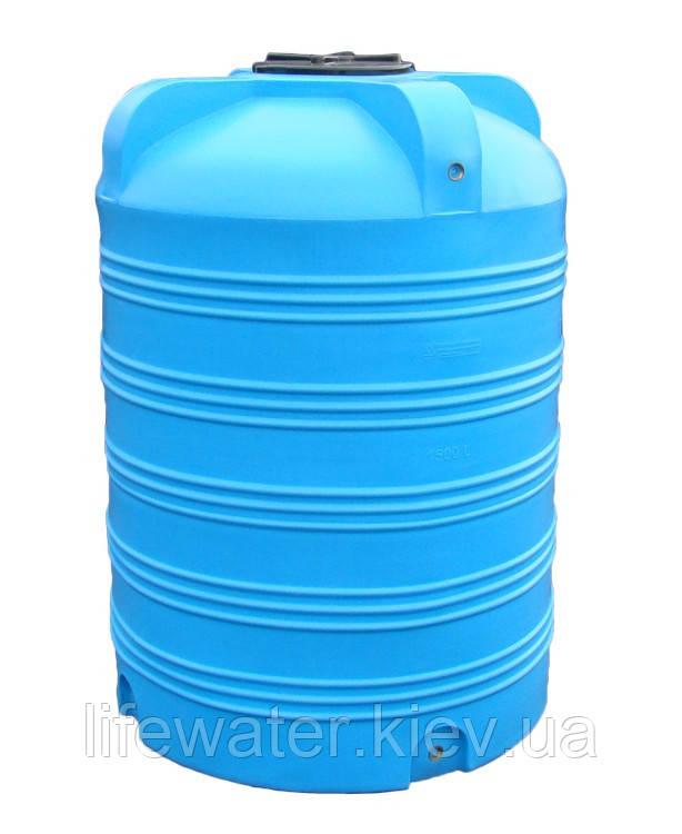 Емкость V-1500, пищевая пластиковая бочка, бак для воды