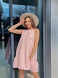Вільний сукня жіноча літній без рукавів, фото 2