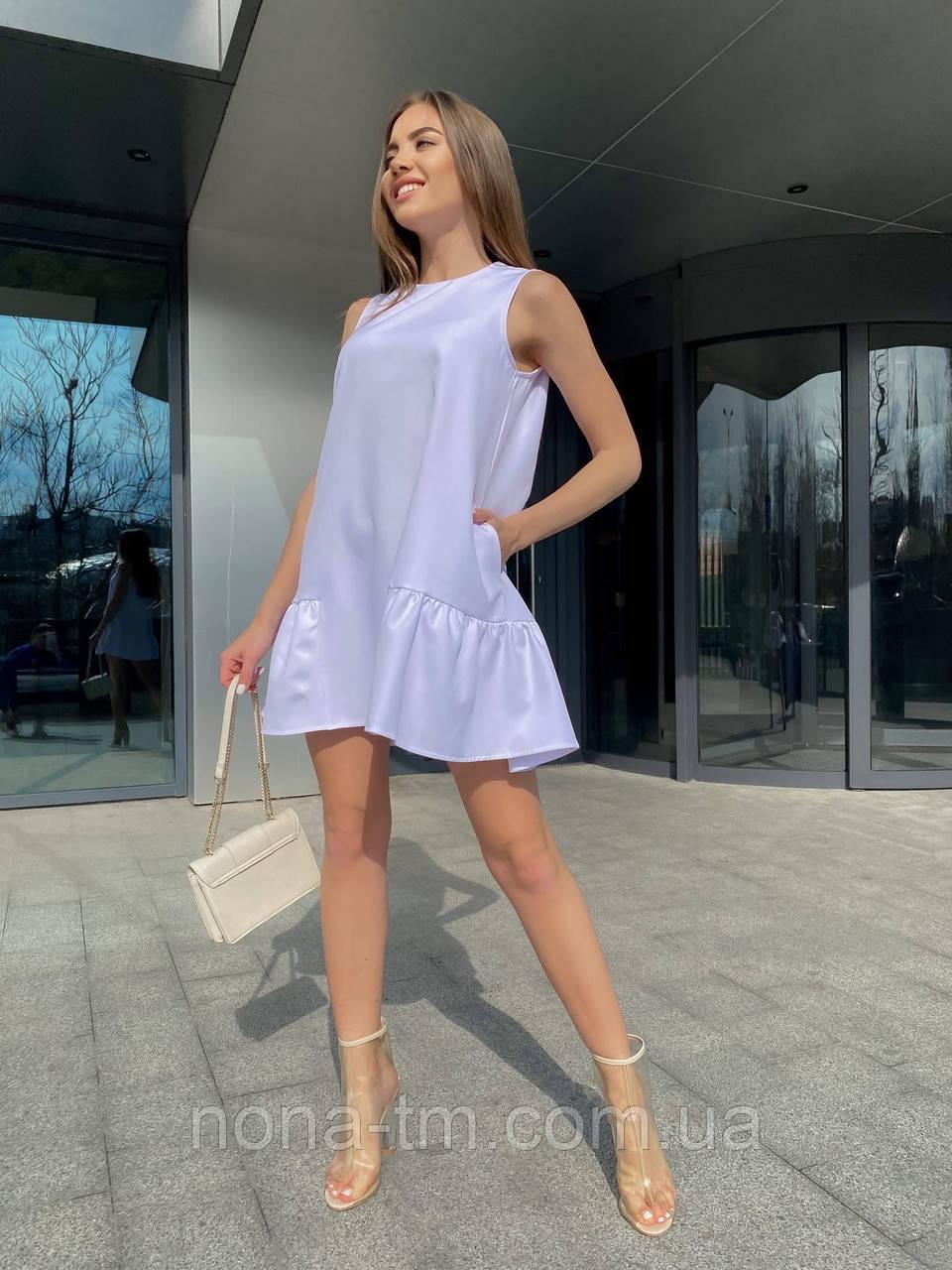 Свободное платье женское летнее без рукавов