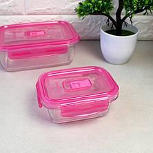 """Контейнер прямоугольный с розовой крышкой Luminarc """"Pure Box"""" 21*14,5*7 см 1220 мл (P4590), фото 2"""
