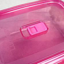 """Контейнер прямоугольный с розовой крышкой Luminarc """"Pure Box"""" 21*14,5*7 см 1220 мл (P4590), фото 3"""
