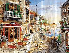 "Картина по номерам на дереве. Rainbow Art ""Приморский бульвар"" GXT7233-RA Картина по номерам на дереве."