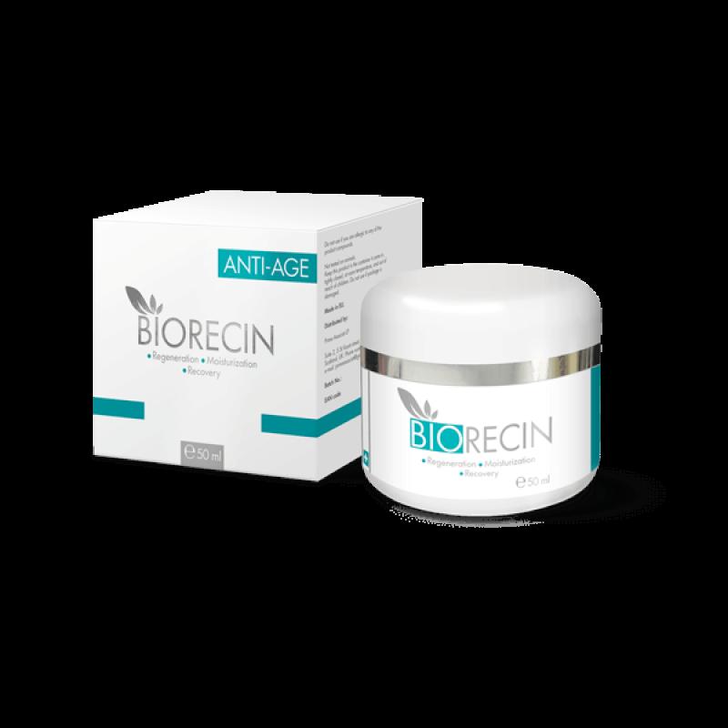 Biorecin крем від зморшок з гіалуронової кислотою і рослинними екстрактами 50мл