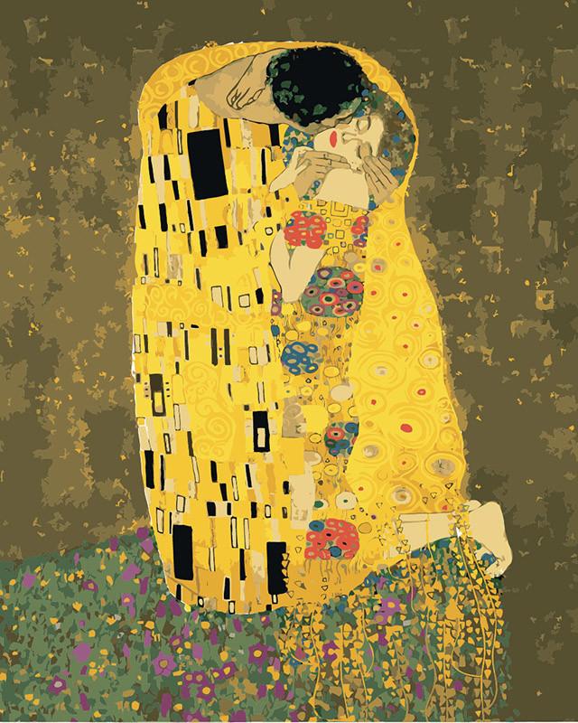 "Картина по номерам. ""Аура поцелуя 2"" - Густав Климт KHO4534, 40х50 см Картина по номерам. ""Аура поцелуя 2"" -"