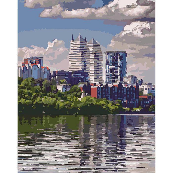 """Картина по номерам. Городской пейзаж """"Любимый город"""" KHO2186, 40х50 см Картина по номерам. Городской пейзаж"""