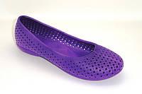 Обувь резиновая для купания женская. Мыльницы / лодочки / балетки. Модель 701 (фиолетовый).