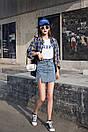 Cветлая джинсовая юбка c высокой посадкой, фото 7