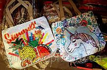 Женская летняя пляжная сумка с пайетками и рисунком 30*33см