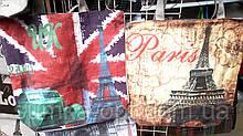 Женские летние пляжные сумки на плечо 37*31 см (флаг, Париж)