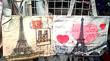 Женские летние пляжные сумки на плечо 37*31 см (Эйфелева башня)