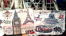 Жіночі літні пляжні сумки на плече 37*31 см (Париж)