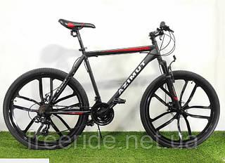 Горный велосипед Azimut Energy 26 GD (21) Premium + Shimano черно-красный