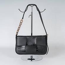 Сумка-клатч жіноча K20-21/5 чорна на плече з довгою ручкою