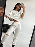 Жіночий прогулянковий костюм з футболкою і штанами, фото 2