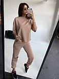 Жіночий прогулянковий костюм з футболкою і штанами, фото 4
