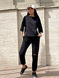 Женский прогулочный костюм с футболкой и штанами, фото 5