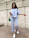 Женский прогулочный костюм с футболкой и штанами, фото 6