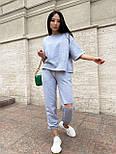 Жіночий прогулянковий костюм з футболкою і штанами, фото 6