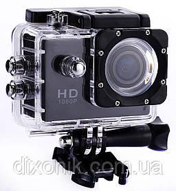 Туристическая Экшн камера Action Camera D600 Full HD для подводной съемки большой комплект креплений