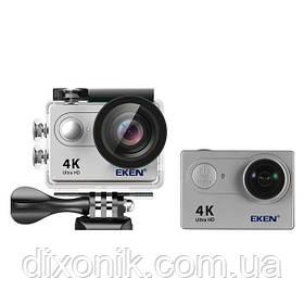 Экшн камера Action Camera EKEN H9 4K silver для активного отдыха большой комплект креплений