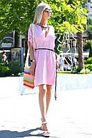 Женское стильное легкое платье с V-образным декольте, фото 1