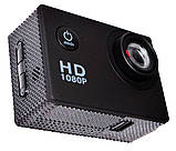 Спортивная экшн камера Action Camera A7 для туризма и развлечений большой комплект креплений, фото 2