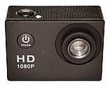 Туристическая Экшн камера Action Camera D600 Full HD для подводной съемки большой комплект креплений, фото 4